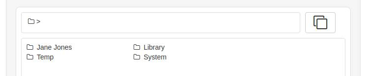 Listing high-level folders
